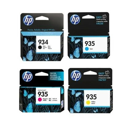 HP Genuine / Original Black & Colour 4 Ink Cartridge Set for OfficeJet Pro 6830