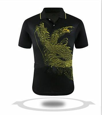 2015 LINING National team men's Tops table tennis Dragon clothes T shirt