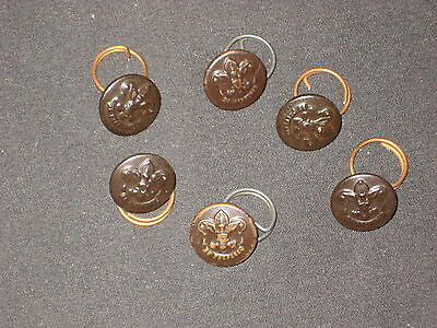 Boy Scout Metal Buttons with rings,    1930-40s           c14