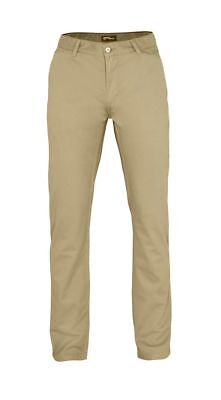 Khaki Trousers Mens Chino Fashion Beige Clothing Slim Fit Straight Leg Pants