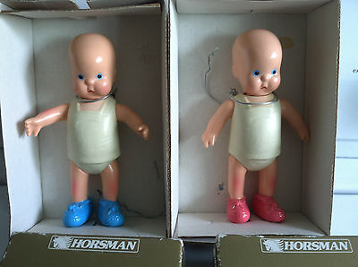 "Vintage Horsman 6"" Hebbe and Shebee Dolls"