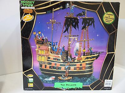lemax halloween spooky town Village The Pillager Pirate Ship sounds animated