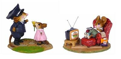 Wee Forest Folk M-525 My Hero & M-527 Little Couch Potato - Set of 2