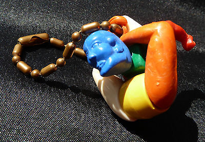 Vintage 1950's Hard Plastic Circus Contortionist Wrestler Puzzle Toy Keychain
