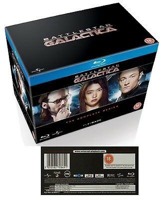 BATTLESTAR GALACTICA (2003-2009) COMPLETE New Reimagined Series Reg Free BLU-RAY