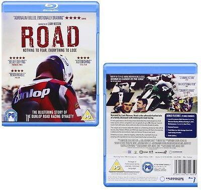 ROAD (2014): Liam Neeson & Dunlops ISLE of MAN TT Documentary - RgB BLU-RAY