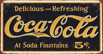 New Coca Cola Logo Vintage Advertisement Coke Metal Tin Sign