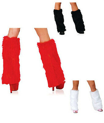 New Winter Fluffy Furry Boot Covers Rave Leg Warmers Christmas & Halloween Gift
