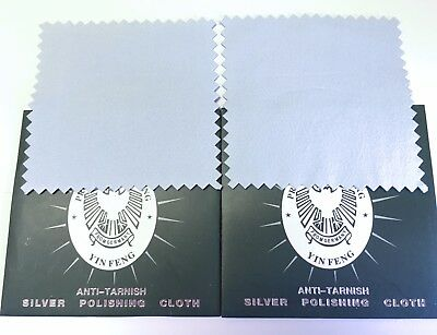 Silver Polishing Cloth Jewelry Cleaner Anti-Tarnish X 2