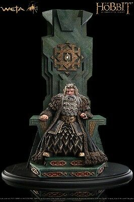 Weta Collectibles The Hobbit King Thror on Throne Statue New