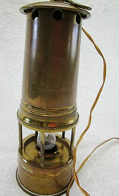 Antique Mine Workers Miner Lamp Safety MCap Cambrian Vintage Electrified