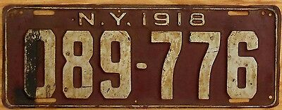 1918 New York License Plate Number Tag Taxi - $2.99 Start