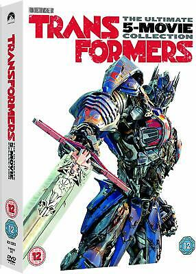 TRANSFORMERS 1-5 (2007-2017) 5x Movie Set Inc THE LAST KNIGHT  NEW R2 DVD not US