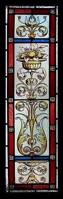 Stunning Rare Roccoco Painted Beauty Antique English Stained Glass Window