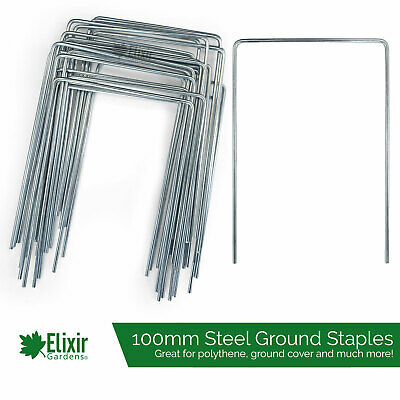 Heavy Duty Metal Ground Cover Pegs Staples Membrane Galvanised Steel Pins
