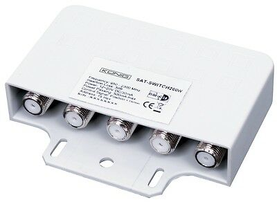 4 Way DiSEqC Switch - 4 LNB's or Dishes to one Satellite Receiver