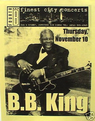 B.B. KING 2005 SAN DIEGO CONCERT POSTER-Blues Guitar Legend Sitting With Lucille