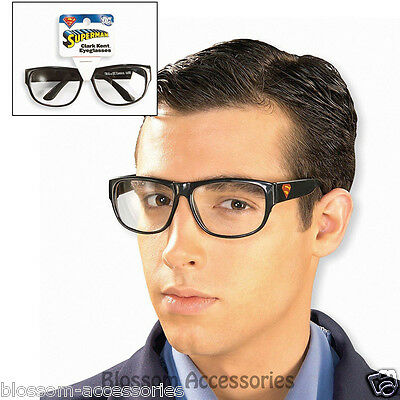 A582 Clark Kent Glasses Disguise Superman Nerd Geek Emo Adult Costume Accessory