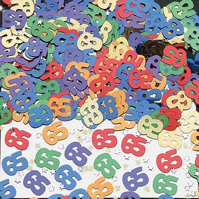 65th Birthday Party Metallic Table Confetti Decorations Sprinkles Age 65
