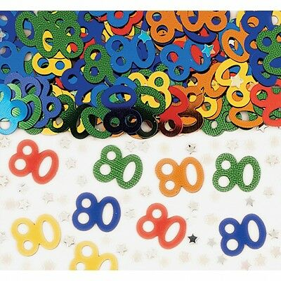 80th Birthday Party Metallic Table Confetti Decorations Age 80 Sprinkles