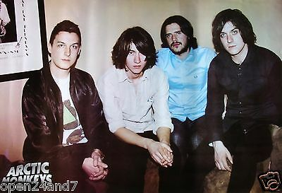 """ARCTIC MONKEYS """"GROUP SITTING ON SOFA"""" POSTER FROM ASIA - U.K. Indie Rock Music"""
