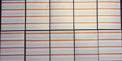 10 Embossed Striped Papers with Pearlescent Finish- 13cm x 10cm - Paper Crafts