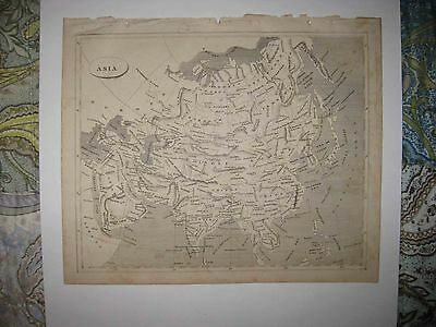 Antique 1805 Asia Arrowsmith & Lewis Copperplate Map Arabia China Japan India Nr