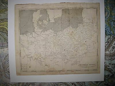 Antique 1805 Prussia Germany Prussian States Copperplate Arrowsmith & Lewis Map
