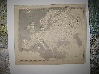 Antique 1805 Europe Arrowsmith & Lewis Copperplate Map Russia Prussia Germany Nr