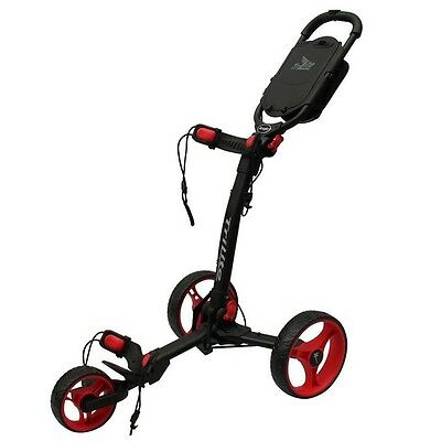Axglo TriLite 3 Wheel Golf Trolley (Black / Red) inc. FREE Travel Bag worth £19.