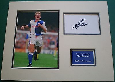 Genuine Alan Shearer Hand Signed Autograph Photo Mount Blackburn Rovers