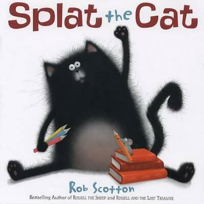 Splat the Cat by Rob Scotton (English) Hardcover Book Free Shipping!