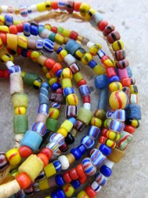 Mixed African Glass Beads -3 Strands [62052]