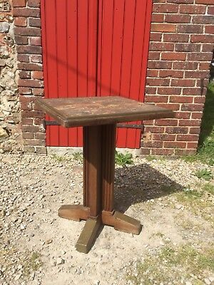 rare table bistro arts & craft signée FISCHER vintage coffee table