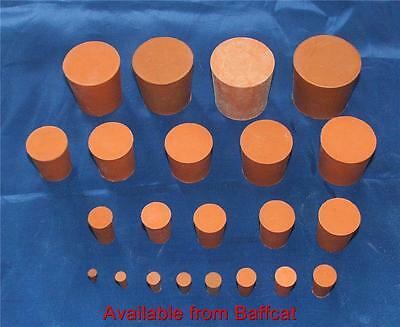 Rubber Stoppers Bungs 13mm Solid Red Pack of 2 Laboratory for Test Tubes Engines