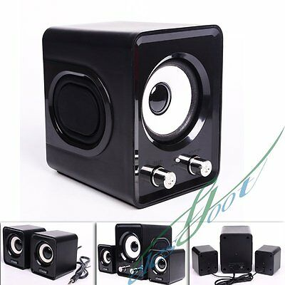 New USB Power Wired Computer Speakers Stereo 3.5mm Jack for Desktop PC Laptops