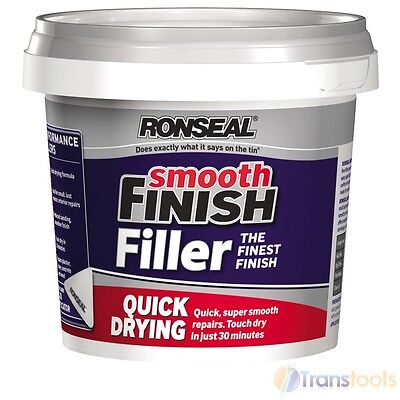 Ronseal 36553 Quick Drying Smooth Finish Wall Filler Ready Mix 600g