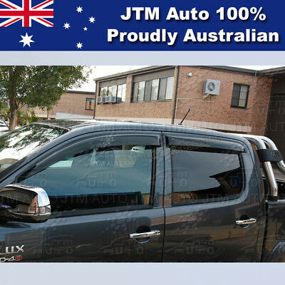 Premium TOYOTA Hilux Weather Shield Weathershields WINDOW VISOR 2005-2015