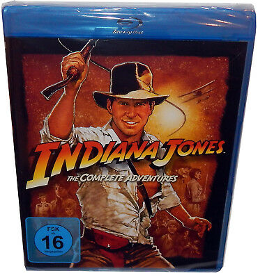 Indiana Jones Quadrilogy (1,2,3,4) - The Complete Adventures [Blu-Ray] Harr.Ford