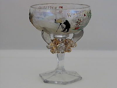 Westmoreland Glass Syria Shriners 1911 Rochester - Pittsburgh Champagne Glass