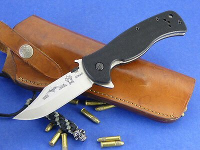 Emerson Rangemaster Sheepdog Flipper Folding Knife Bowie Point SW Skull Lanyard