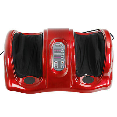 Red Shiatsu Kneading and Rolling Foot Leg Massager Calf Ankle Remote Included