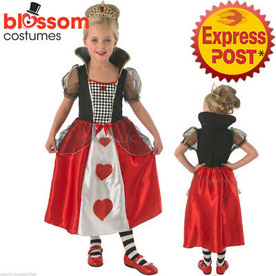 CK1062 Teen Girls Queen Of Hearts Book Week Alice Wonderland Storybook Costume