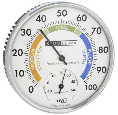 Präzisions-Hygrometer Extragross Tfa 45.2021.42 Raumhygrometer Zimmerthermometer