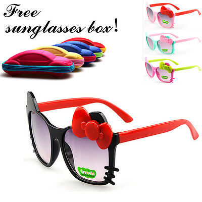New Girls Baby Kids Childrens Cartoon Cat Sunglasses Anti UV400 Sunglasses Gift