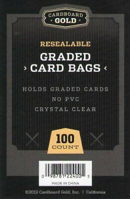 5000 50-Packs Ultra CBG Premium Pro Graded Card Bags Sleeves Clear Protectors