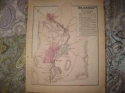 Antique 1873 Blakely Archbald Olyphant Jessup Lackawanna County Pennsylvania Map