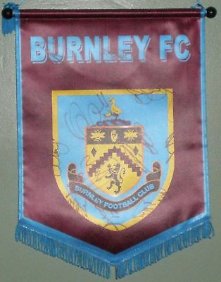 Signed Burnley 2010/11 Squad Pennant