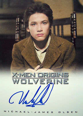 X-Men Origins Wolverine Autograph Card Michael-James Olsen