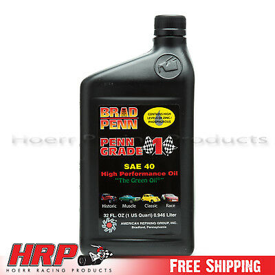 Brad Penn 40WT SAE 40 High Performance Oil - 12 Pack